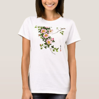Vintage Japanese Cherry Blossoms, Pink and Gold T-Shirt