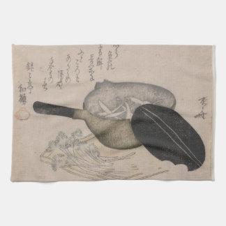 Vintage Japanese Cooking Art Image Kitchen Towel