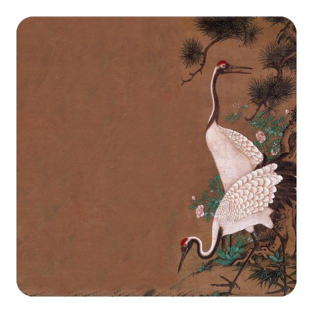 Of wedding invitation cards 63 on wedding invitation cards new designs - Vintage Japanese Cranes Wedding Invitations Zazzle