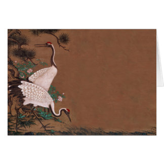 Vintage Japanese Cranes Wedding Invitations Cards