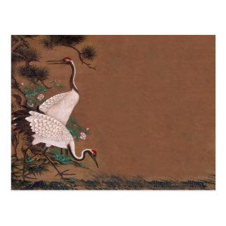Vintage Japanese Cranes Wedding Invitations Postcard