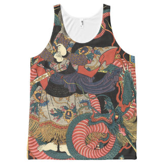 Vintage Japanese Dragon All-Over-Print Tank Top