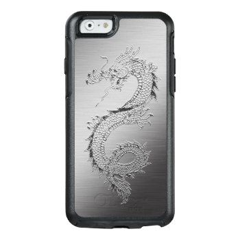 Vintage Japanese Dragon Brushed Metal Look Otterbox Iphone 6/6s Case by clonecire at Zazzle