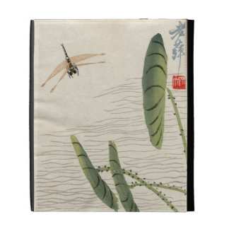 Vintage Japanese Dragonfly iPad Case