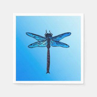Vintage Japanese Dragonfly, sapphire blue Napkin