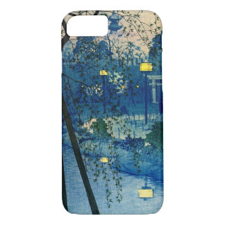 Vintage Japanese Evening in Blue iPhone 8/7 Case