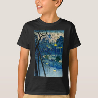 Vintage Japanese Evening in Blue T-Shirt