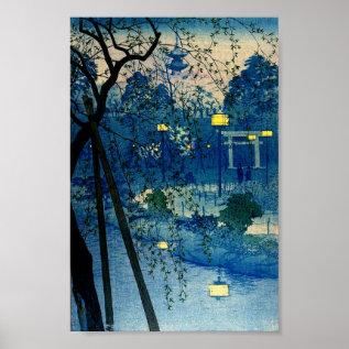 Vintage Japanese Evening Woodblock Art Ukiyo-e Poster at Zazzle