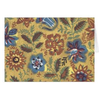 Vintage Japanese Fabric Art 1 Card