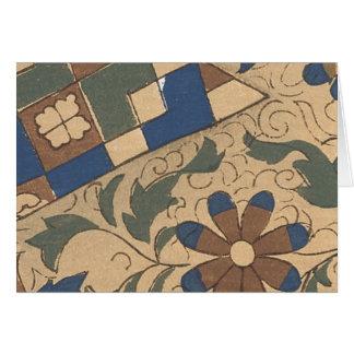 Vintage Japanese Fabric Art 2 Card