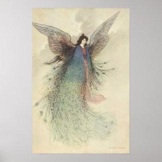 Vintage Japanese Fairy, Moon Maiden, Warwick Goble Poster