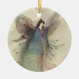 Vintage Japanese Fairy Tale, The Moon Maiden Ceramic Ornament