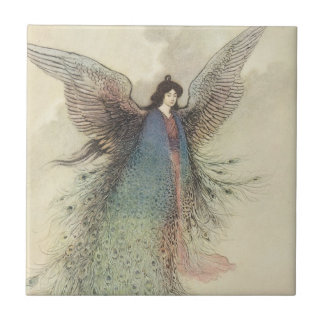 Vintage Japanese Fairy Tale, The Moon Maiden Ceramic Tile
