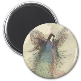 Vintage Japanese Fairy Tale, The Moon Maiden Magnet