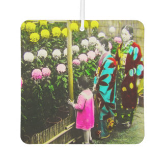 Vintage Japanese Family at Chrysanthemum Show Air Freshener