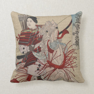 Vintage Japanese Female Warrior Hangakujo Pillow