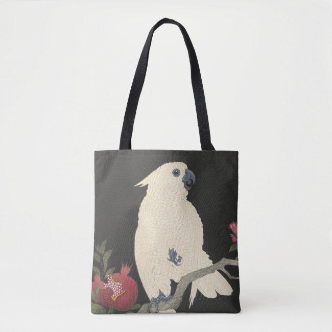 Vintage Japanese Fine Art | White Cockatoo