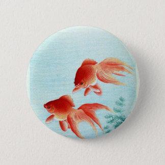 Vintage Japanese Fish Print Button