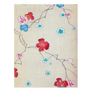 Vintage Japanese Floral Art Post Card