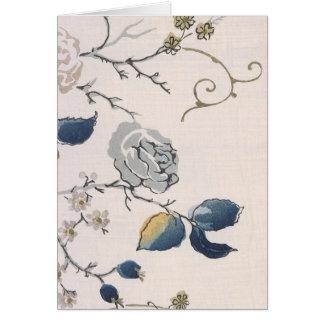 Vintage Japanese Floral Fabric Art 153 Card
