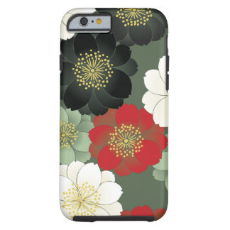 Vintage Japanese Floral Kimono Pattern Tough iPhone 6 Case