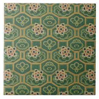 Vintage Japanese Floral Tile
