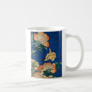 Vintage Japanese Flower Bird Coffee Mug
