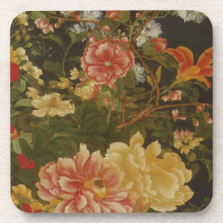Vintage Japanese Flowers and Insects Drink Coasters