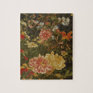 Vintage Japanese Flowers and Insects Jigsaw Puzzle