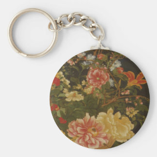 Vintage Japanese Flowers and Insects Keychains