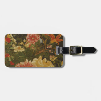 Vintage Japanese Flowers and Insects Luggage Tag