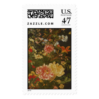 Vintage Japanese Flowers and Insects Stamp