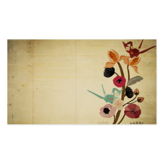 Vintage Japanese flowers Business Card