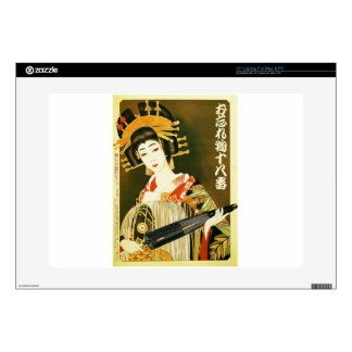 Vintage Japanese Geisha Art Decal For Laptop
