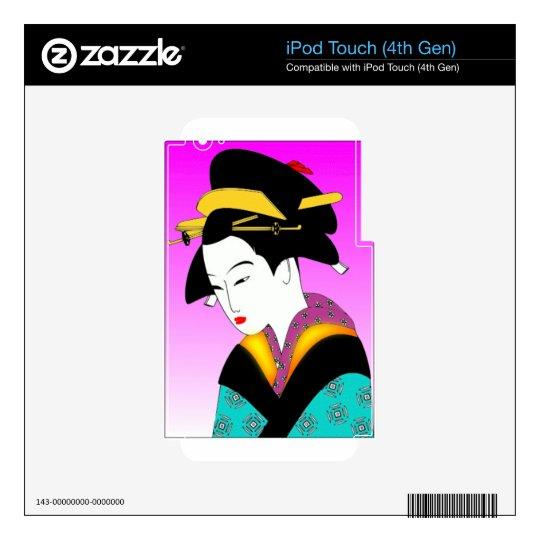 Vintage Japanese Geisha Art iPod Touch 4G Skins
