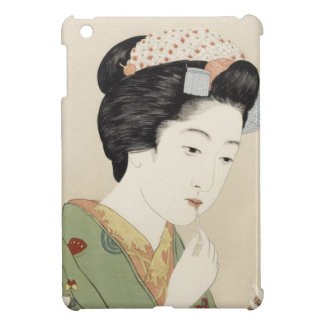 Vintage Japanese Geisha Girl Art iPad Mini Cases