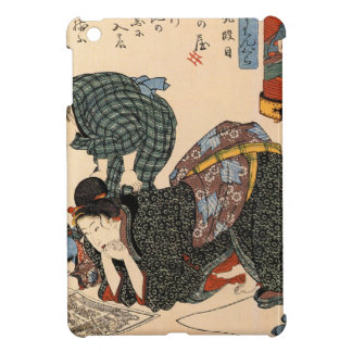 Vintage Japanese Geisha Girl Art iPad Mini Covers