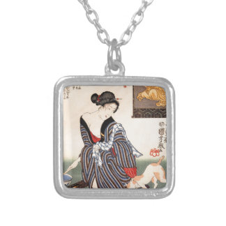Vintage Japanese Geisha Girl Art Pendants