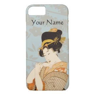 Vintage Japanese Geisha Girl Entertainer in Kimono iPhone 8/7 Case