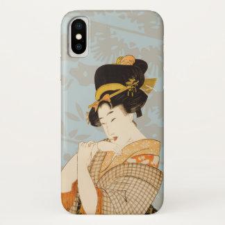 Vintage Japanese Geisha Girl Entertainer in Kimono iPhone X Case