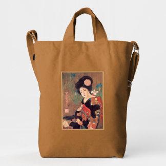 Vintage Japanese Geisha Girl Retro Design Duck Canvas Bag