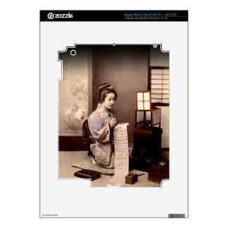 Vintage Japanese Geisha - Letter Writer iPad 3 Skin