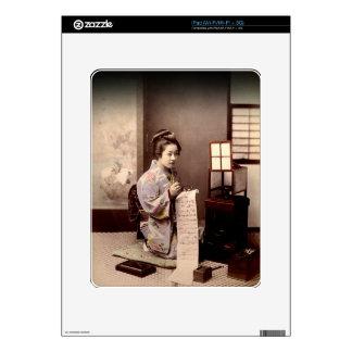 Vintage Japanese Geisha - Letter Writer iPad Skin