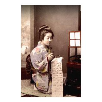 Vintage Japanese Geisha - Letter Writer Stationery