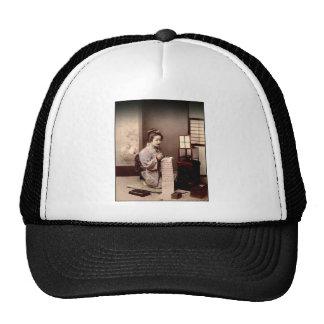 Vintage Japanese Geisha - Letter Writer Trucker Hat