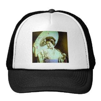 Vintage Japanese Geisha Posing Favorite Parasol Trucker Hat