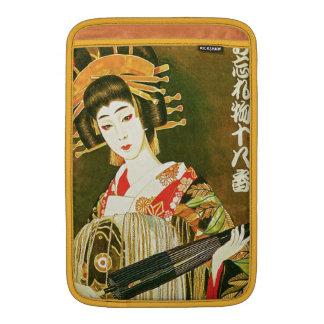 Vintage Japanese Geisha, Wasaga Paper Umbrella Art MacBook Air Sleeve