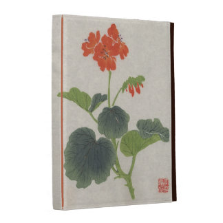 Vintage Japanese Geranium iPad Cases