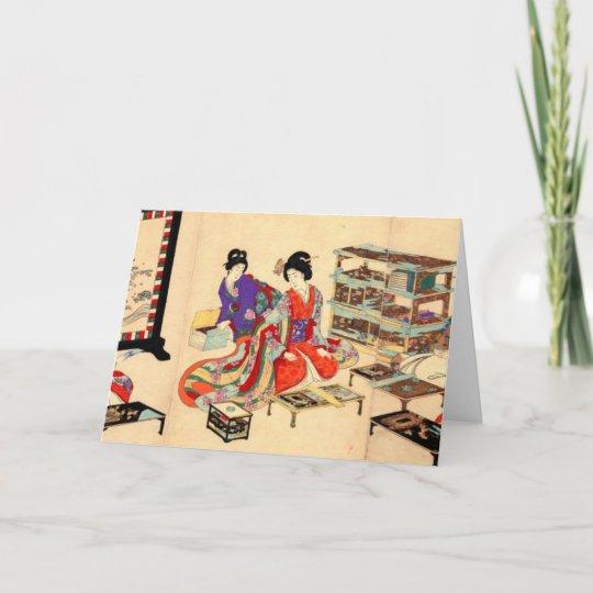 vintage japanese greeting card  zazzle