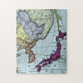 Vintage Japanese Hand Tinted Map 日本 Jigsaw Puzzle